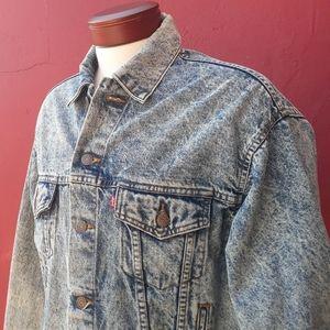 Levi's Rare Vintage Acid Wash Jean Jacket Fall